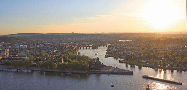 Gauklerfestung Blick auf Koblenz