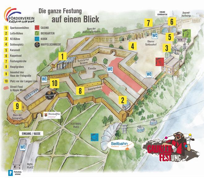 Gauklerfestung Festungsplan